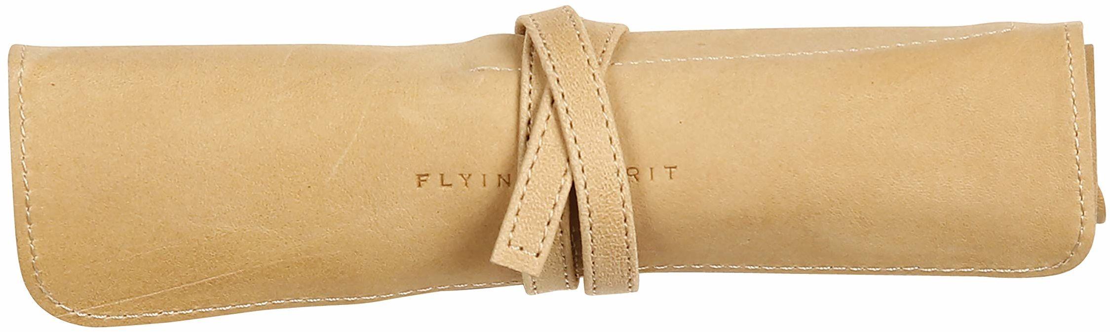 Clairefontaine Flying Spirit skórzany piórnik rolka - beżowy