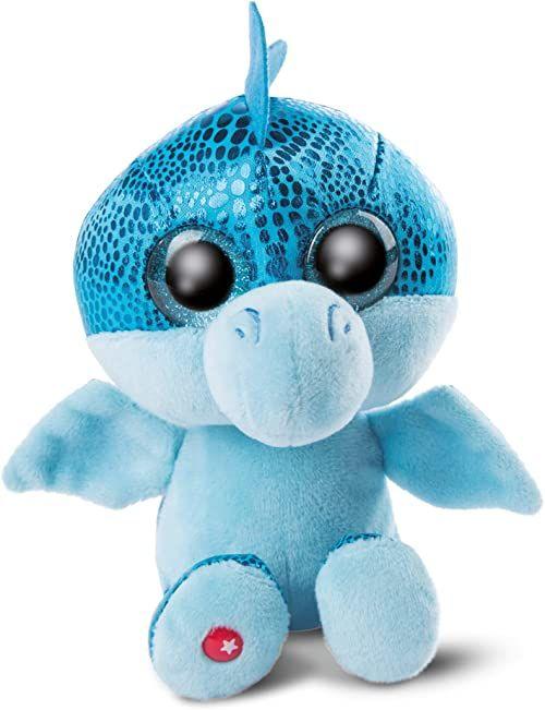 NICI 46932 Original  Glubschis Jet 15 cm  przytulanka smok oczy  puszysta pluszowa zwierzątko z dużymi błyszczącymi oczami  przytulanka dla miłośników pluszaków, niebieska