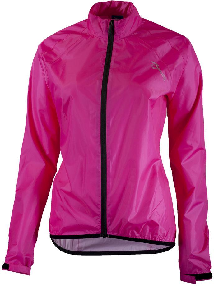 ROGELLI TELLICO damska kurtka rowerowa przeciwdeszczowa, fluor różowy Rozmiar: XS,rogelli-tellico-pink-woman