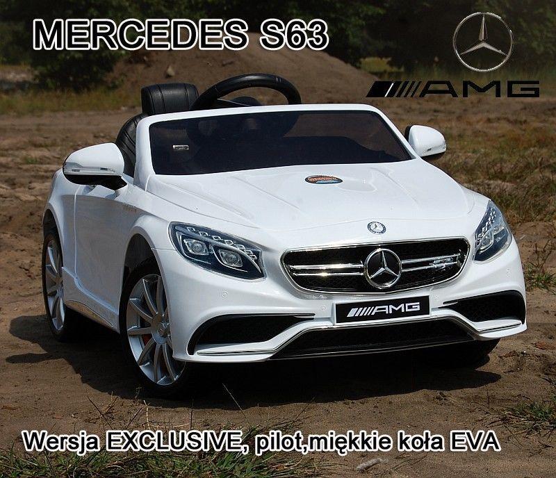 MERCEDES S63 AMG LICENCJA, MIĘKKIE KOŁA EVA FULL OPCJA/HL169