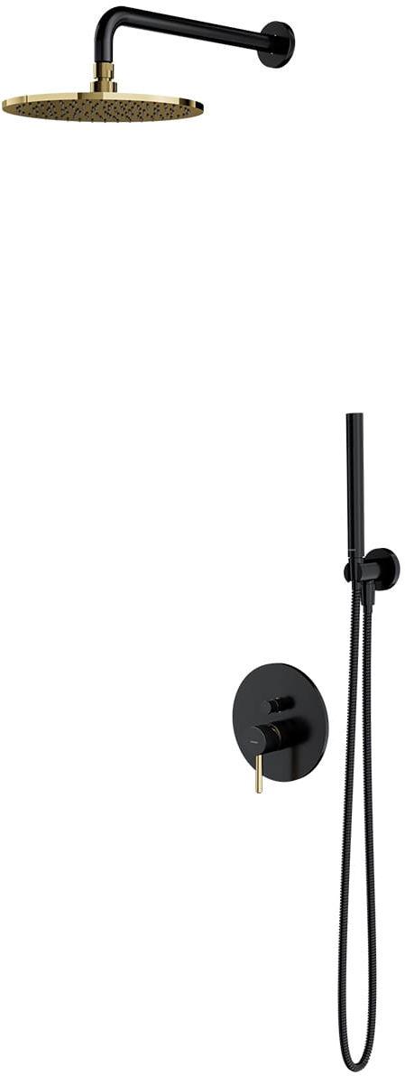OMNIRES System prysznicowy podtynkowy Y, czarno-złoty SYSY18BLGL