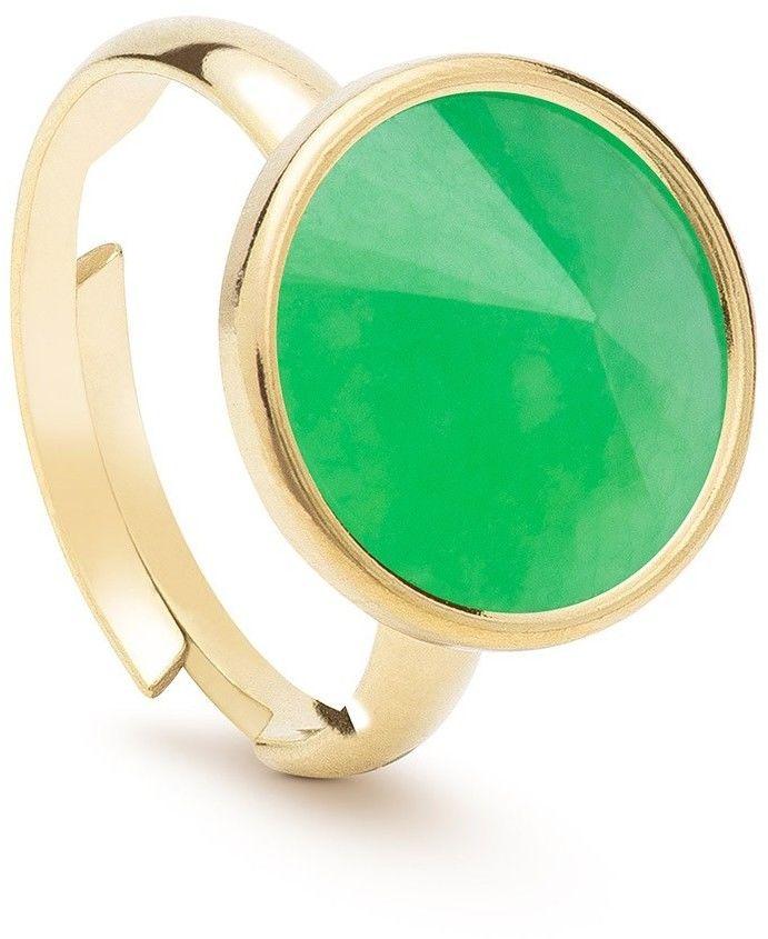 Srebrny pierścionek kamień naturalny chryzopraz, srebro 925 : Kamienie naturalne - kolor - chryzopraz zielony ciemny, ROZMIAR PIERŚCIONKA - Uniwersalny - (min. 11 - 16,00 MM / max. 18 - 18,33 MM), Sre