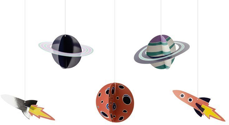 Zawieszki dekoracyjne Kosmos 5szt ZSC2