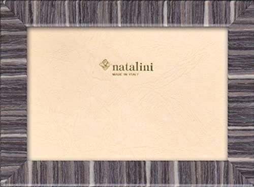 Natalini Marquetry ramka na zdjęcia wykonana we Włoszech, tulipan, szara, 12 cm x 18 cm