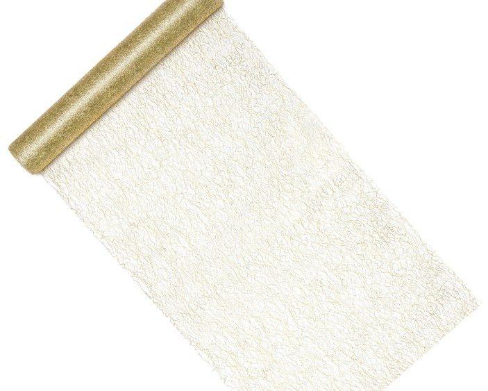 Siatka dekoracyjna fibra złota 36cm 1 rolka 9m SF1-36-019ME