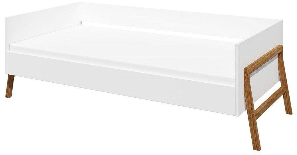 Łóżko 160x80 Lotta Bellamy białe szare