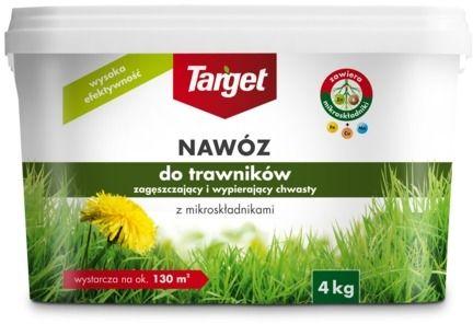 Nawóz do trawnika  zagęszczający i wypierający chwasty  4 kg target