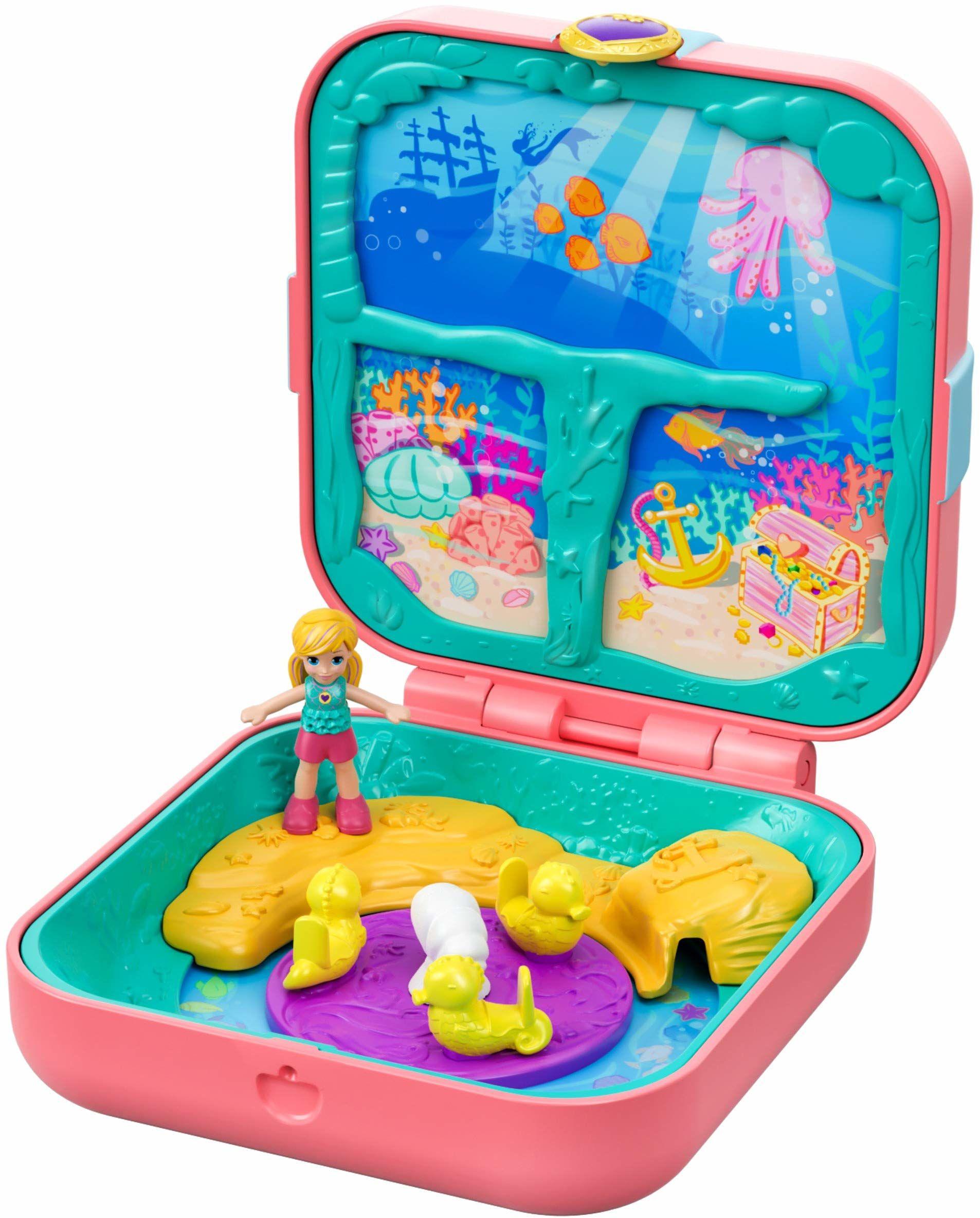 Polly Pocket GDK77  ukryte skarby ogon syrenki, lalka zabawka dla dzieci od 4 roku życia