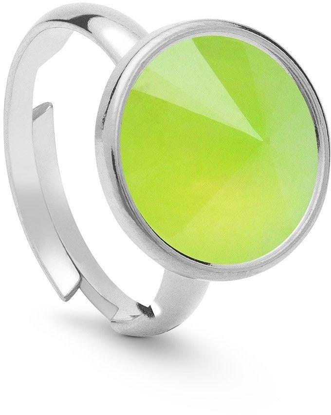 Srebrny pierścionek kamień naturalny chryzopraz, srebro 925 : Kamienie naturalne - kolor - chryzopraz zielony jasny, ROZMIAR PIERŚCIONKA - Uniwersalny - (min. 11 - 16,00 MM / max. 18 - 18,33 MM), Sreb