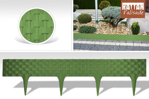 Palisada ogrodowa kolor zielony RATTAN PALISADE