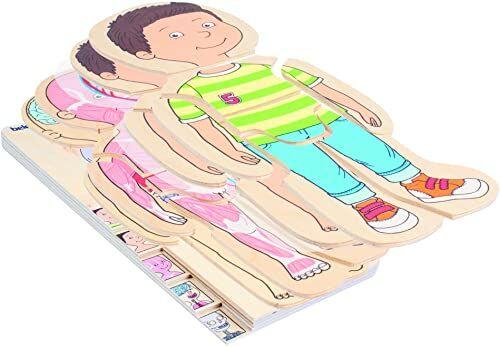 Beleduc 17170  puzzle warstwowe Twoje ciało chłopcy, ekstra folia z przedstawieniem krążenia, sprawdzona w przedszkolu