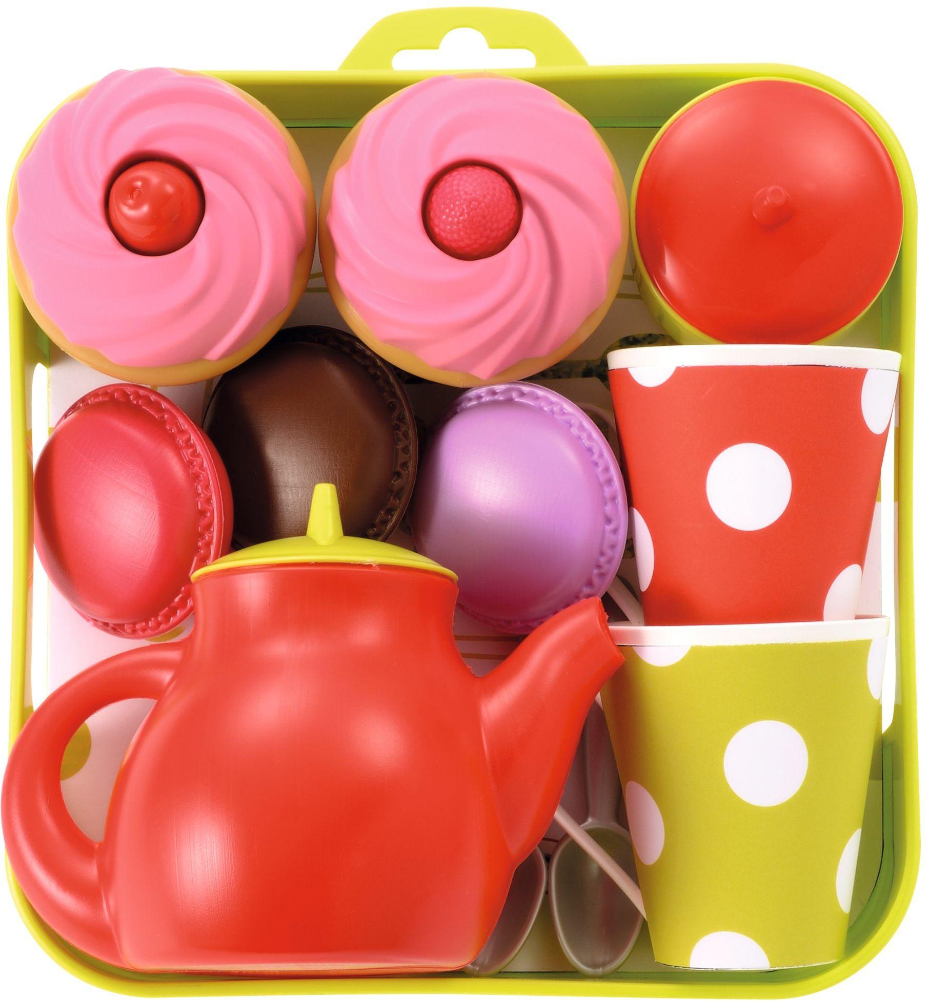 Ecoiffier 960  zestaw do herbaty taca z babeczkami