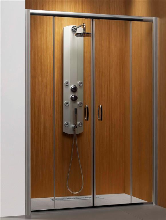 Radaway drzwi wnękowe Premium Plus DWD 160 szkło Brązowe wys. 190 cm. 33363-01-08N