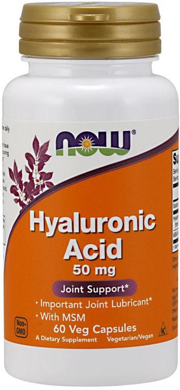NOW Hyaluronic Acid 50mg 60vegcaps