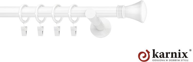 Karnisze nowoczesne NEO pojedynczy 19mm Liberty biały