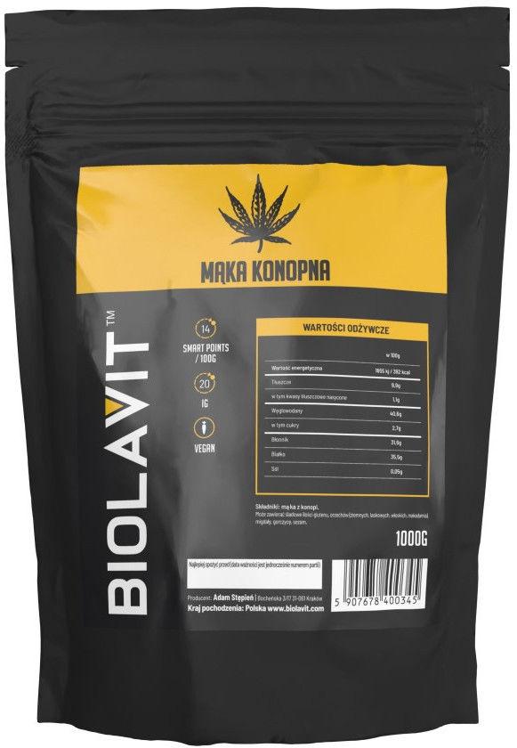 Biolavit Mąka konopna - 1000 g