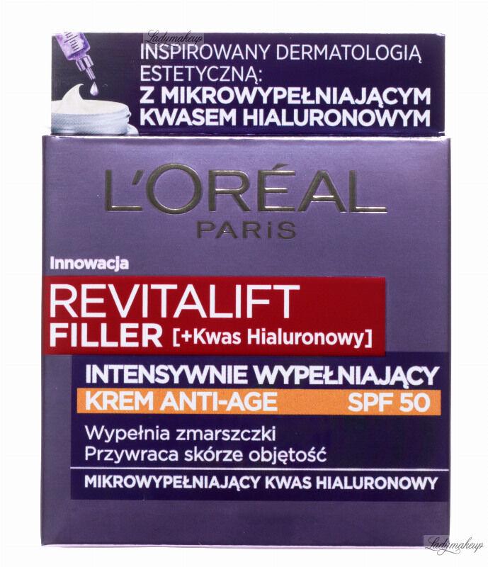 L Oréal - REVITALIFT FILLER [HA] - Intensywnie wypełniający krem przeciwzmarszczkowy - SPF50 - 50 ml