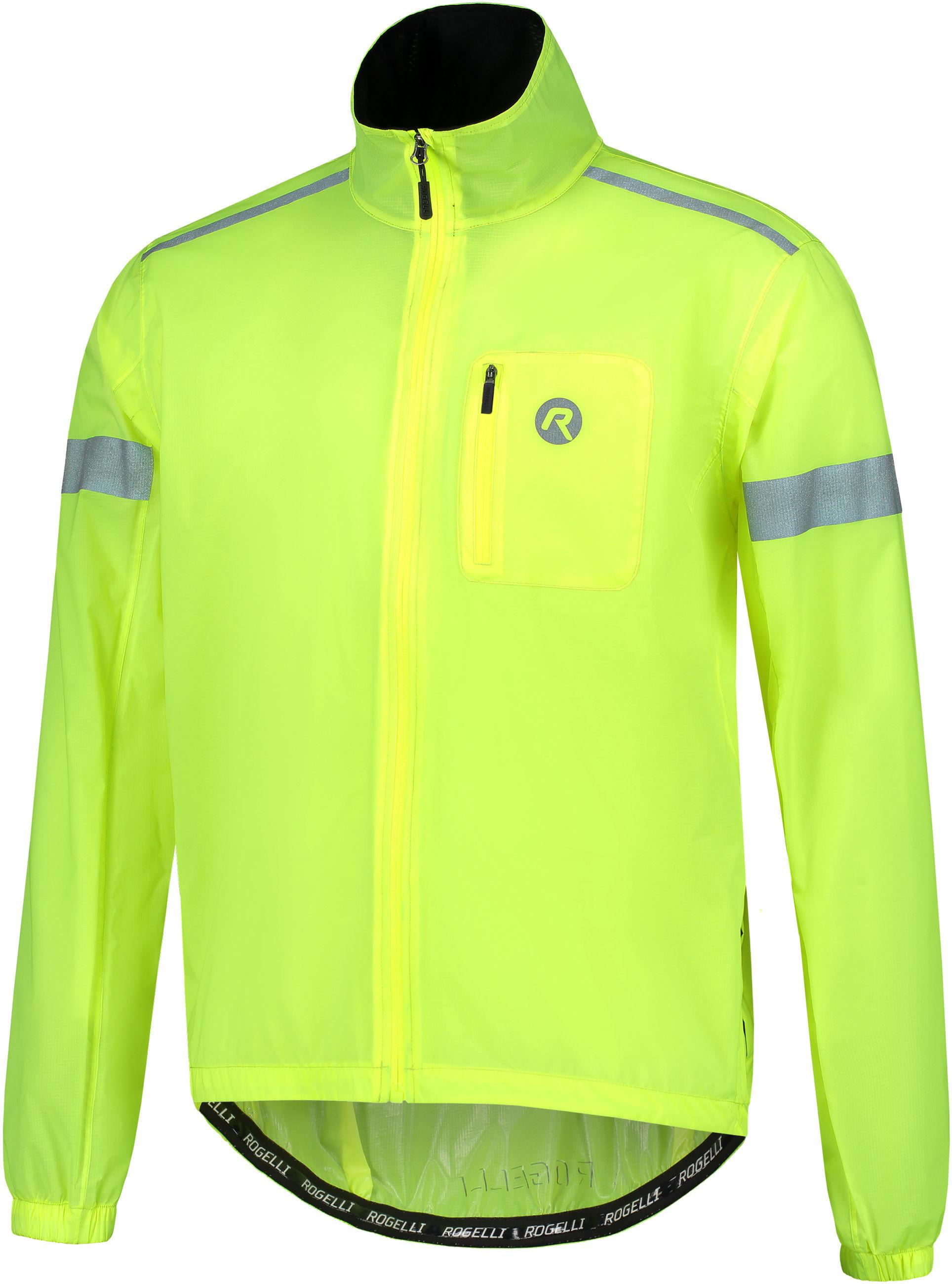 ROGELLI CLOUD 004.040 męska kurtka rowerowa przeciwdeszczowa fluorowa Rozmiar: 2XL,Rogelli_004.040_Cloud