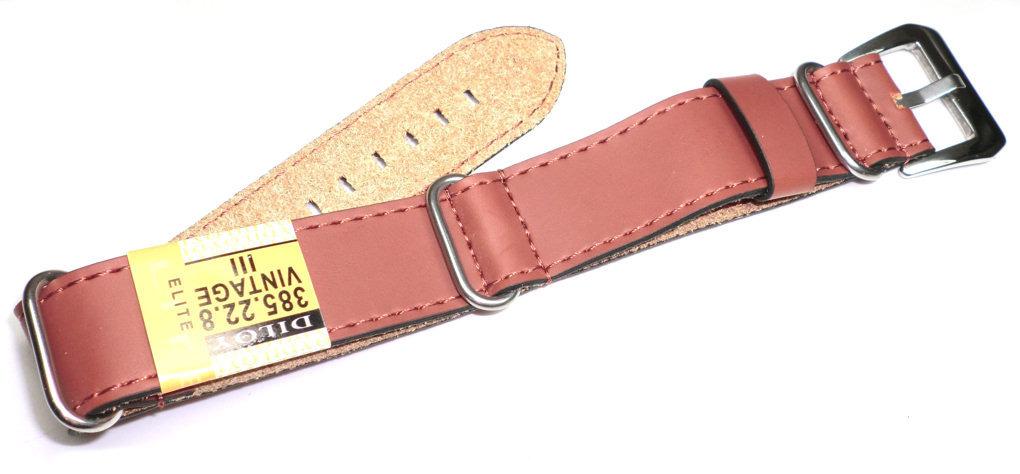 Skórzany pasek do zegarka 22 mm Diloy 385.22.8