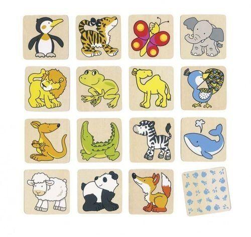 Memo Pingwin z przyjaciółmi, 56700-goki, gry pamięciowe, drewniane