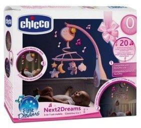 Chicco Next2Dreams karuzela lampka pozytywka różowa