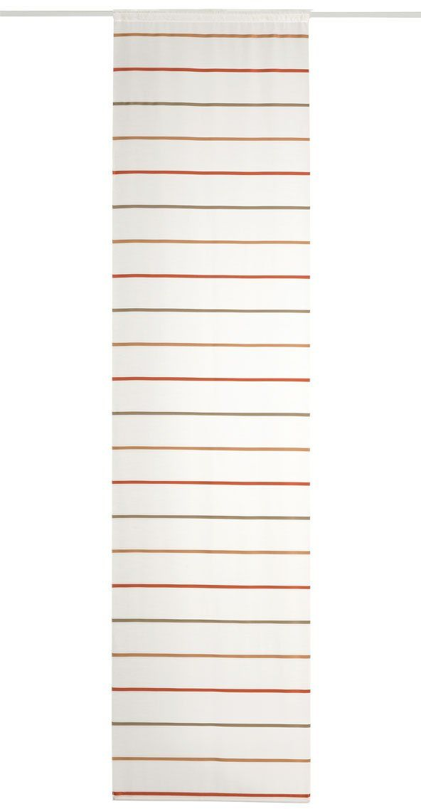 Deko Trends Capua 8025 01 038 zasłona panelowa z aluminiowym uchwytem panelowym i prętem ważonym wielokolorowa