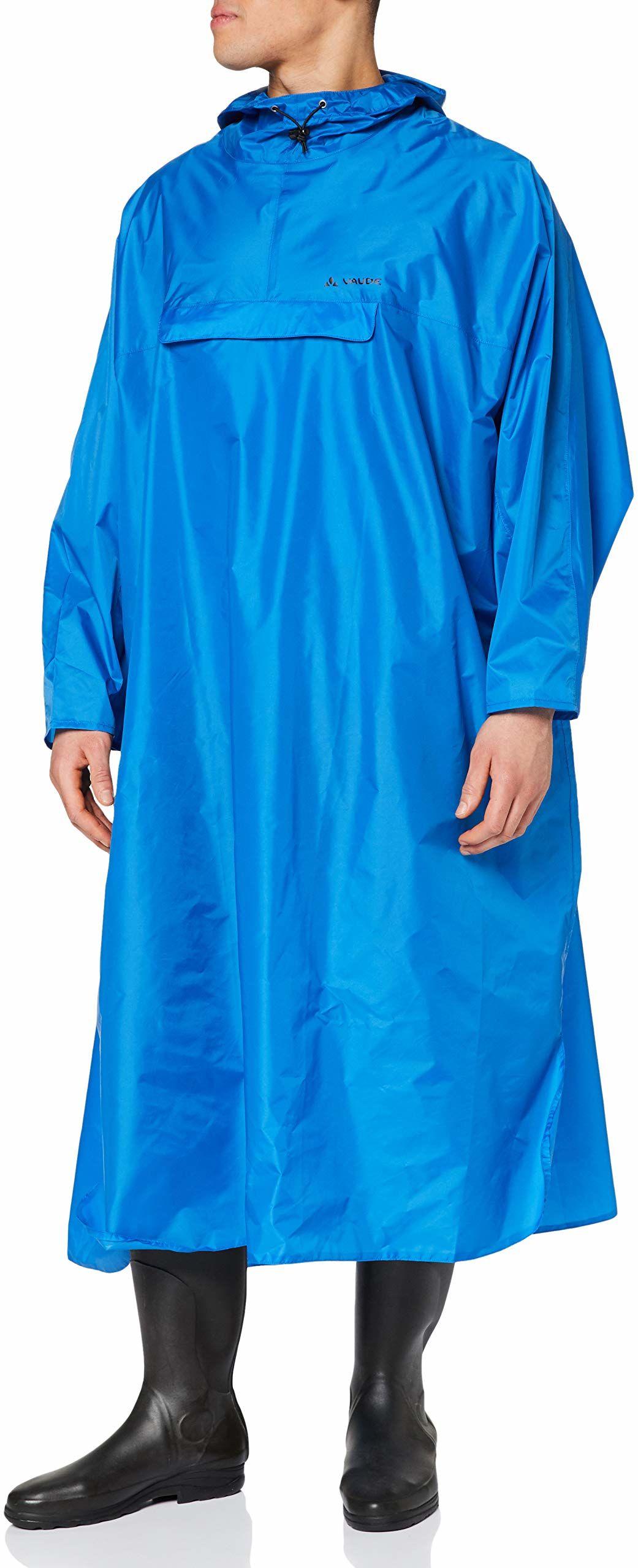 VAUDE 050393005300 ponczo męskie Hiking Backpack ponczo, niebieskie, S/M, 05039300