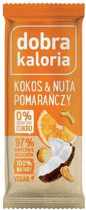 Baton kokos i pomarańcza 35 g Dobra Kaloria