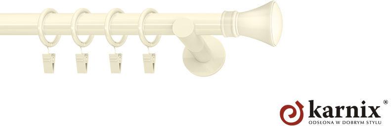 Karnisze nowoczesne NEO pojedynczy 19mm Liberty ivory (kość słoniowa)