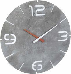 TFA Dostmann Contour zegar ścienny sterowany radiowo, dobrze czytelny, wygląd betonu, tworzywo sztuczne, dł. 360 x szer. 65 x wys. 385 mm