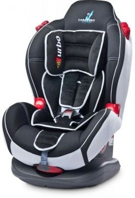 Caretero fotelik samochodowy sport turbo 9-25 kg black