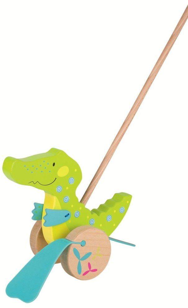 Zabawka do pchania, zielony krokodyl kłapiący stopami, 54911-goki susibelle