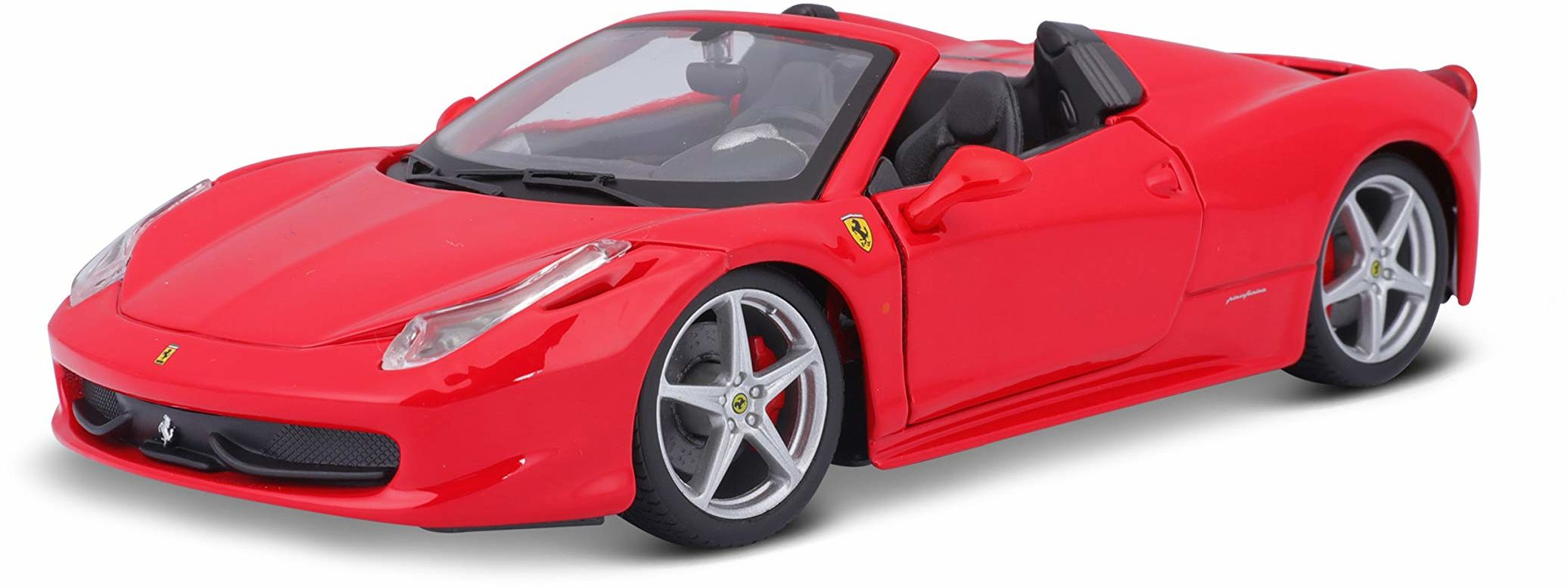 "Bburago B18-26017 Skala 1:24 ""Race And Play Of The Ferrari 458 Spider Sports Car"" Model odlewany ciśnieniowo"
