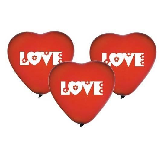 Balony lateksowe Love serca - 5 szt.