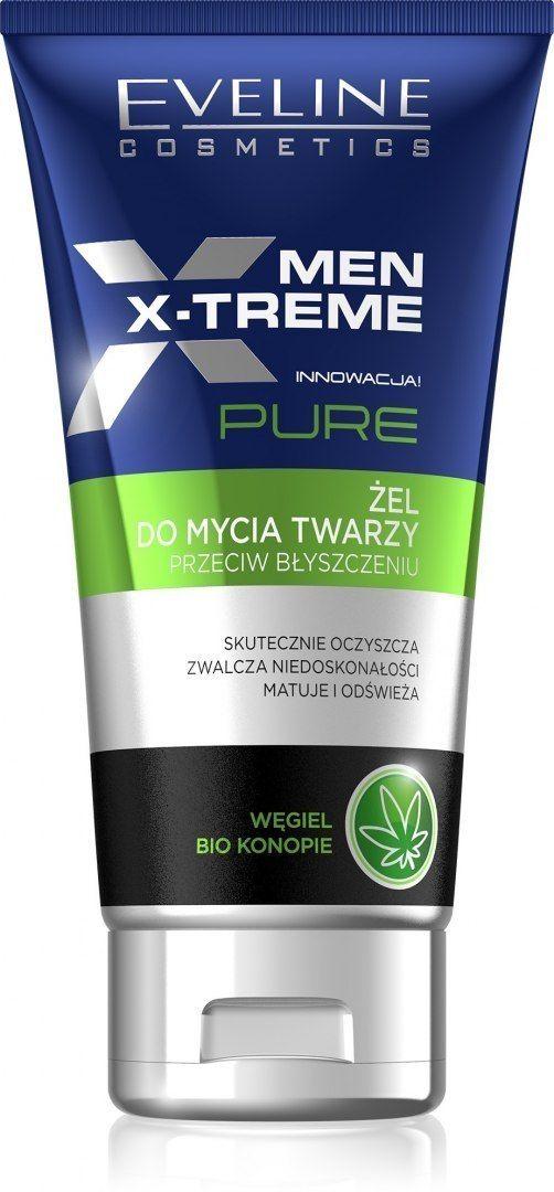Eveline Eveline Men X-Treme Pure Żel do mycia twarzy przeciw błyszczeniu 125ml