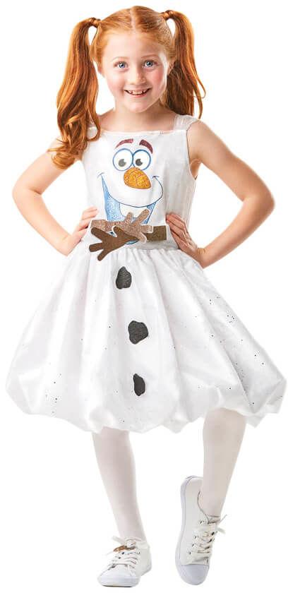 Kostium Frozen 2 Olaf sukienka dla dziewczynki - Roz. S
