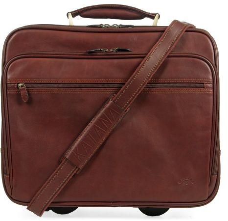 Kufer podróżny kabinówka na kółkach skóra licowa