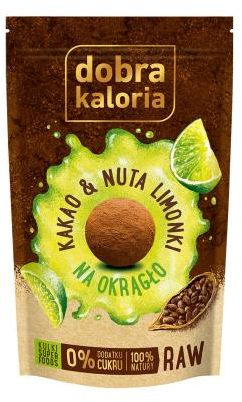 Ciasteczka-kulki Kakao&Nuta limonki bez cukru 65 g Dobra Kaloria