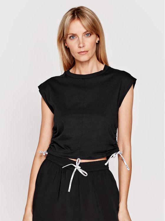 Calvin Klein Swimwear T-Shirt KW0KW01354 Czarny Regular Fit