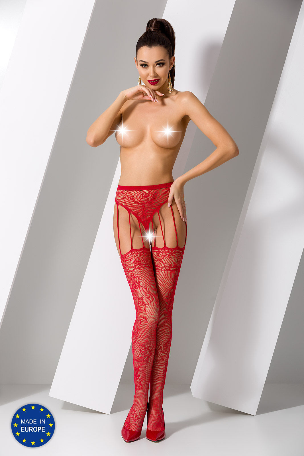 Passion S016 Tights Red