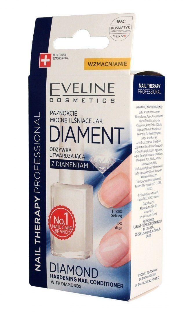 EVELINE KOLOROWKA Eveline Nail Therapy Lakier odżywka utwardzająca do paznokci Diament 12ml