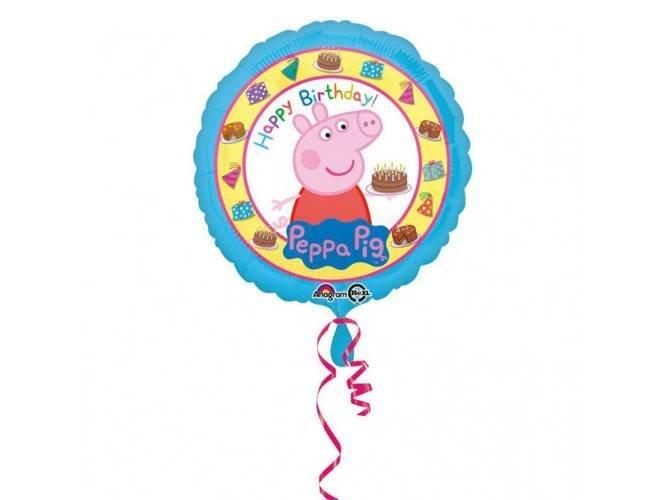 Balon foliowy Świnka Peppa Happy Birthday - 43 cm