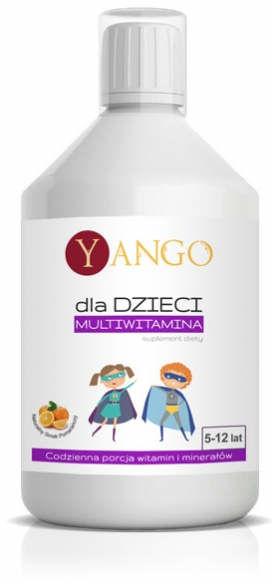 Multiwitamina dla Dzieci YANGO Witaminy dla zdrowego rozwoju i wsparcia organizmu dziecka 500ml