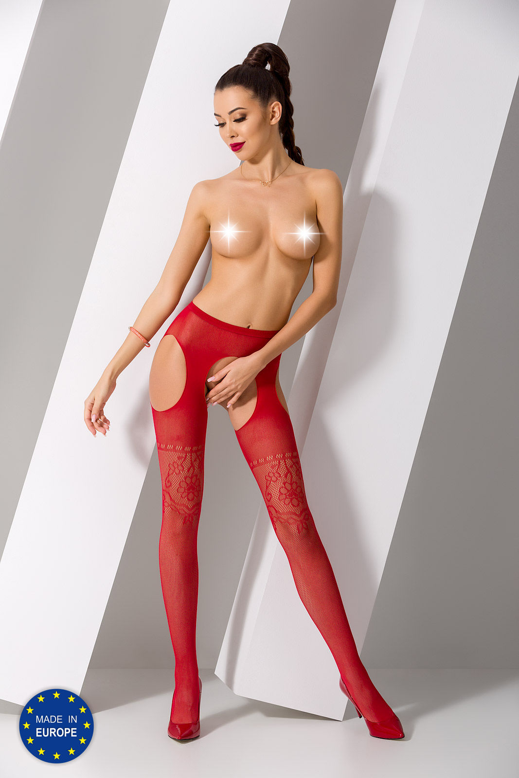 Passion S017 Tights Red