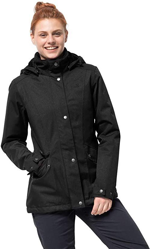 Jack Wolfskin Kurtka damska Park Avenue wodoszczelna kurtka zimowa czarny czarny L