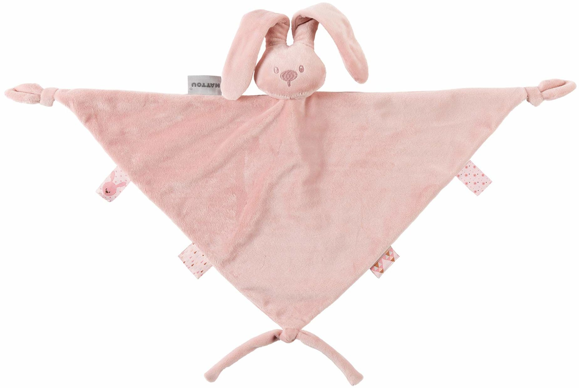 Nattou 877459 duży ręcznik lapidou, towarzysz od urodzenia, 65 x 40 cm, Lapidou, Altrosa