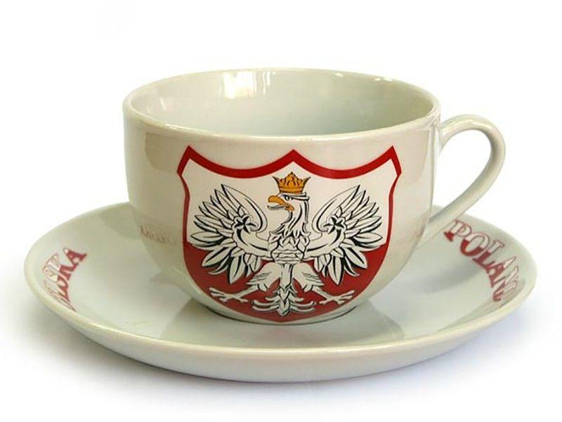 Filiżanka ceramiczna okrągła Polska