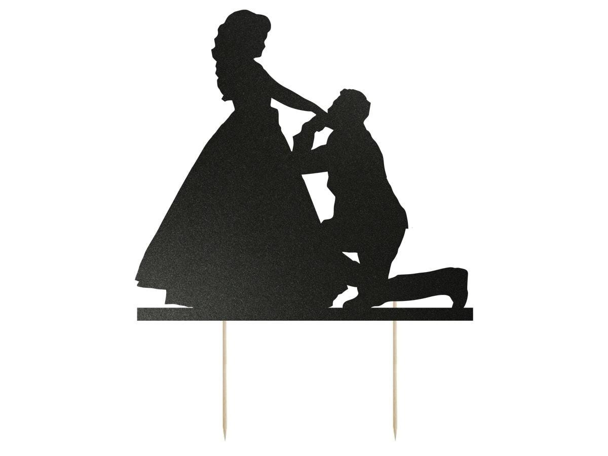 Topper na tort Młoda Para - 13 cm