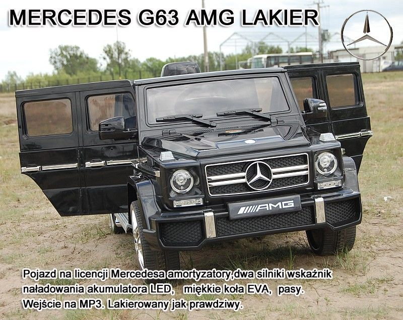 MERCEDES G63 AMG DWA SILNIKI, OTWIERA DRZWI, MOCNY MIĘKKIE KOŁA/HL168