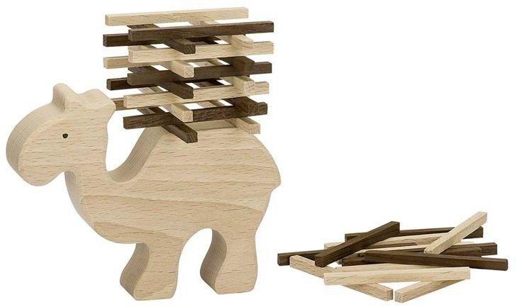Drewniana układanka Wieża wielbłąda Eko 56693-Goki Nature, zręcznościowe gry dla dzieci